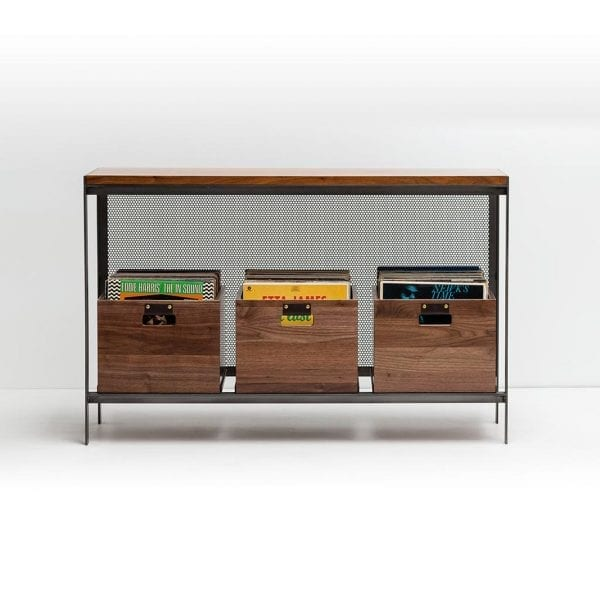Dovetail Record Crate Rack Walnut