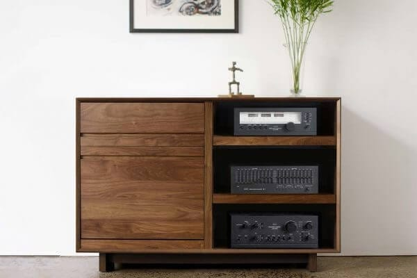 AERO LP Media Console Walnut