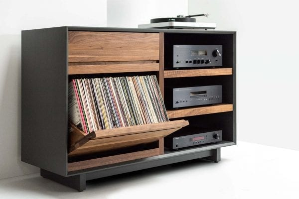 AERO Stereo Cabinet with LP Album Storage