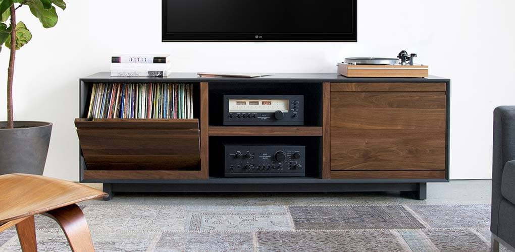 AERO Walnut Multimedia Cabinet