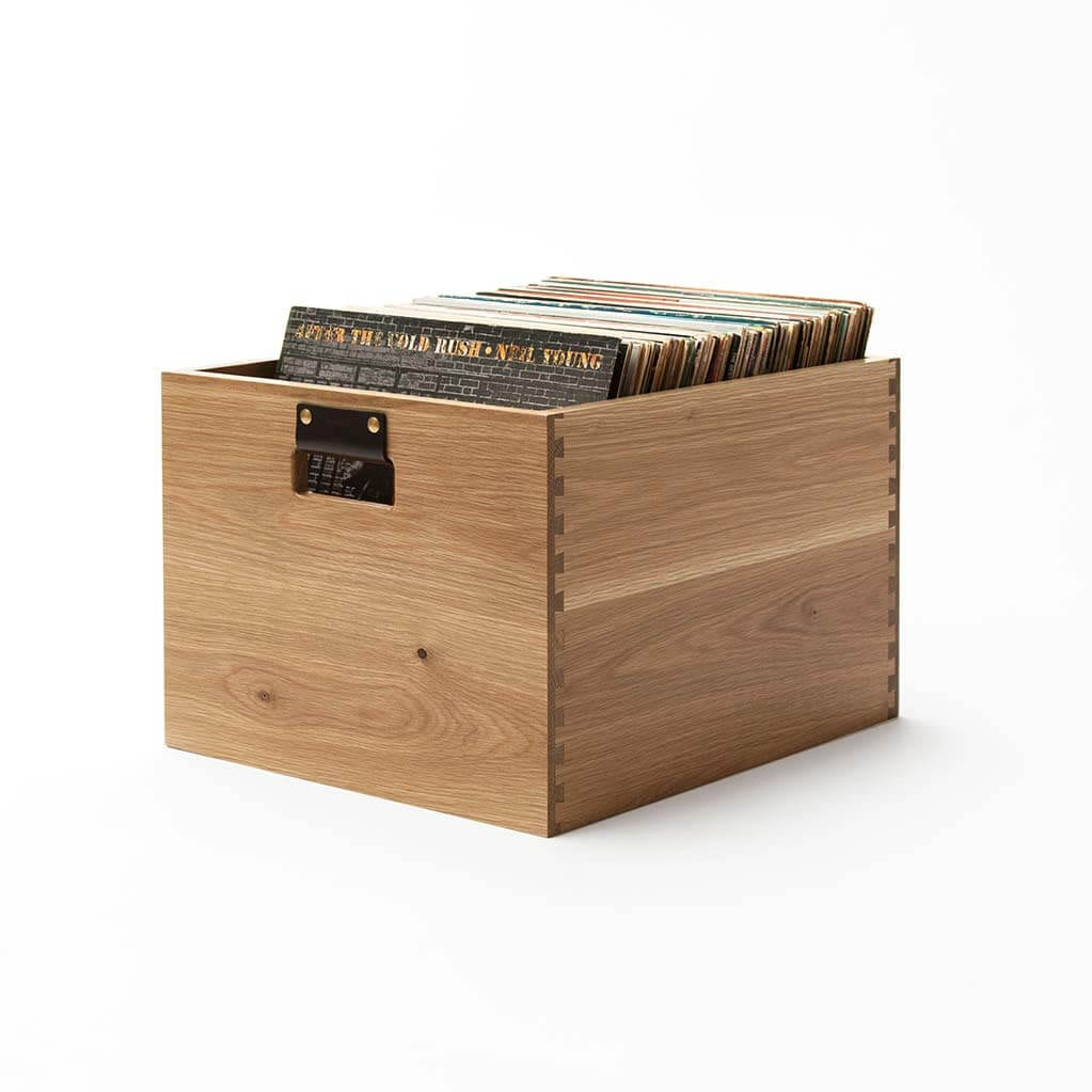Dovetail Record Crate Oak Vinyl