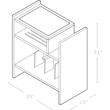 MAX Turntable Stand Dimensions