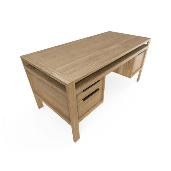 Modern Home Office Desk Solid Oak