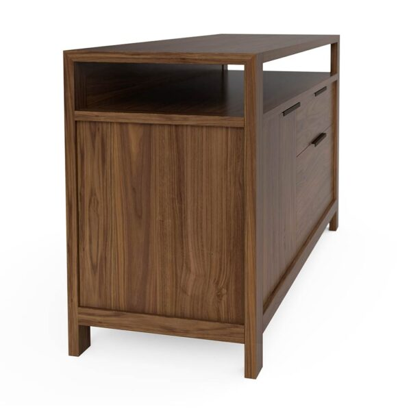 Modern Home Office File Credenza Solid Walnut