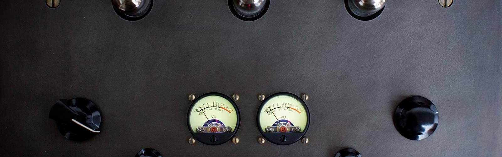 Modern Record Console Amplifier Detail