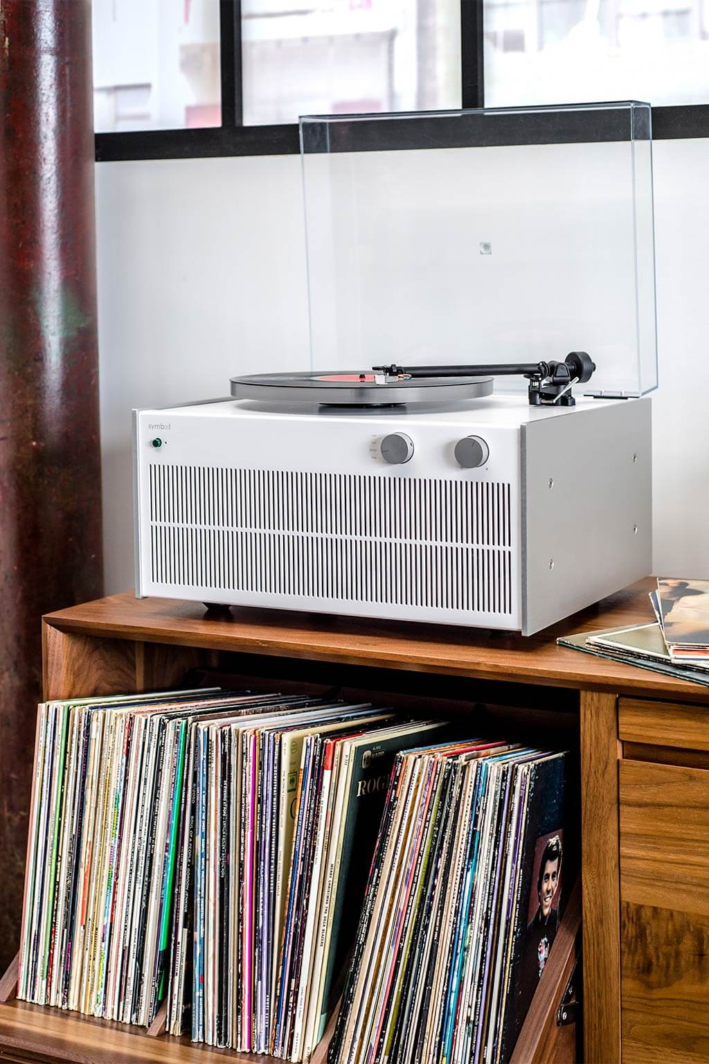 Modern Record Player Bluetooth Amp Sonos Equipped Record