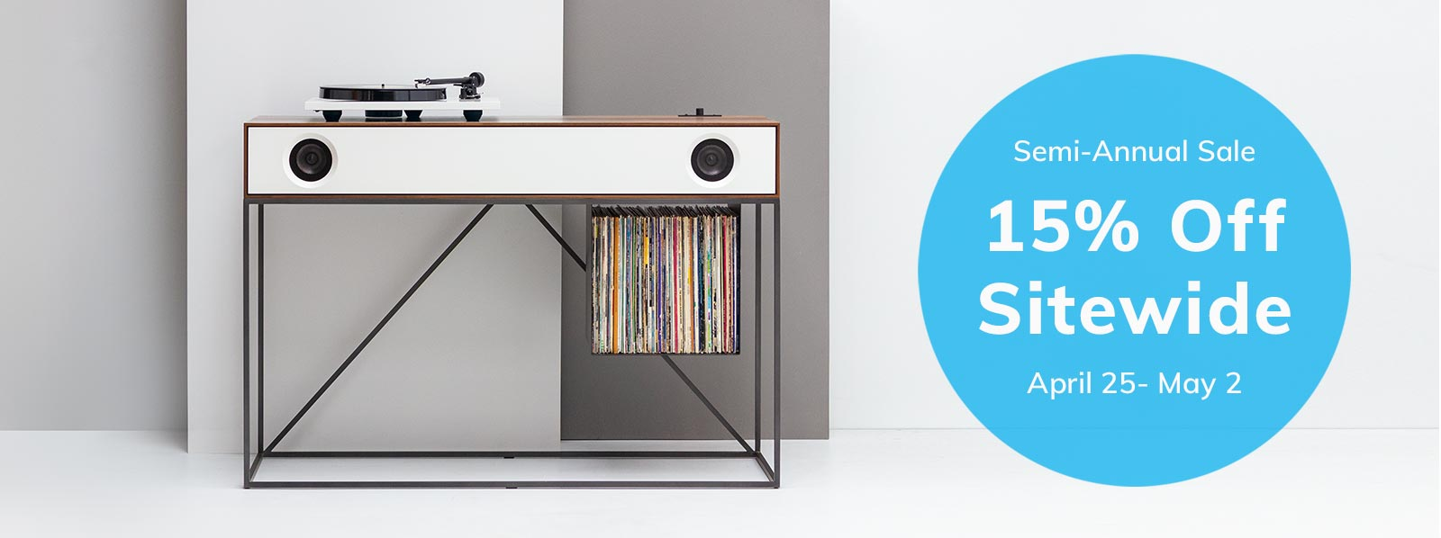 Stereo Console Table Banner