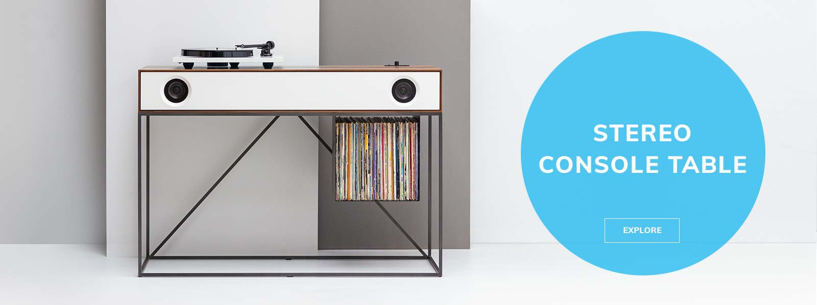 Stereo Console Table Record Player