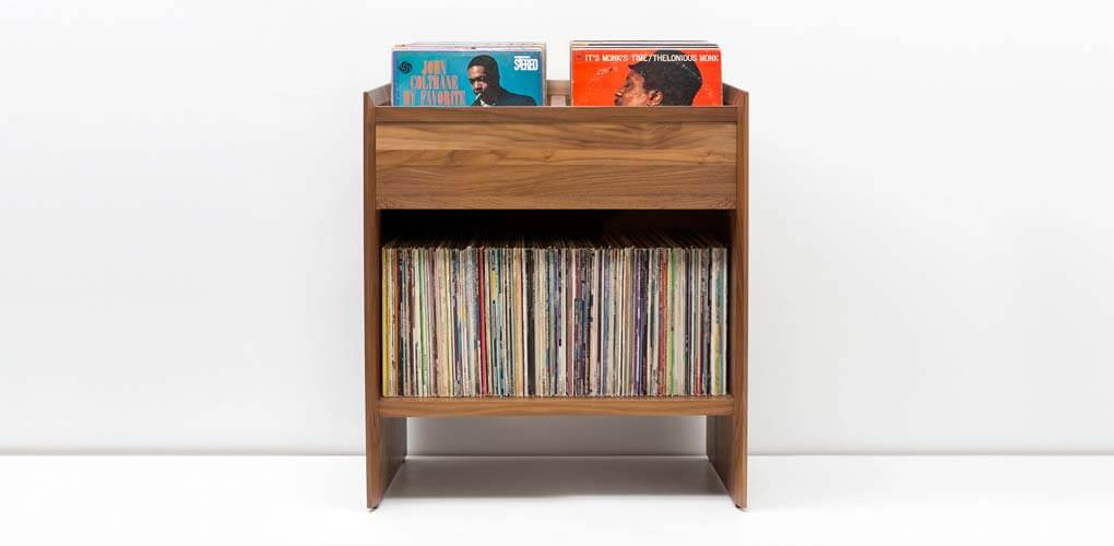 Unison Walnut Album Storage Cabinet