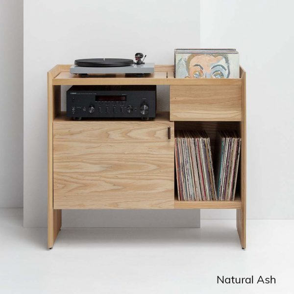 Unison Record Player Stand Natural Ash