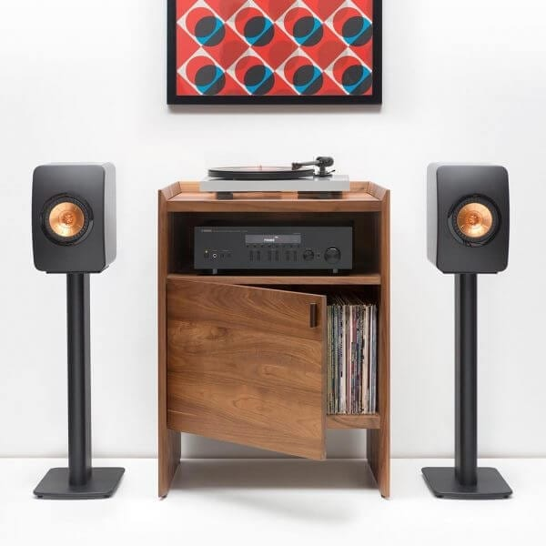 Unison Walnut Record Stand with Gear
